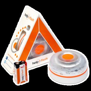 Baliza Help Flash V16 con caja y batería